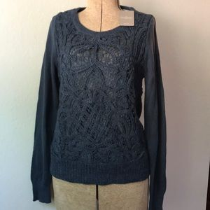 Anthropologie knitted & knotted sweater S NWT